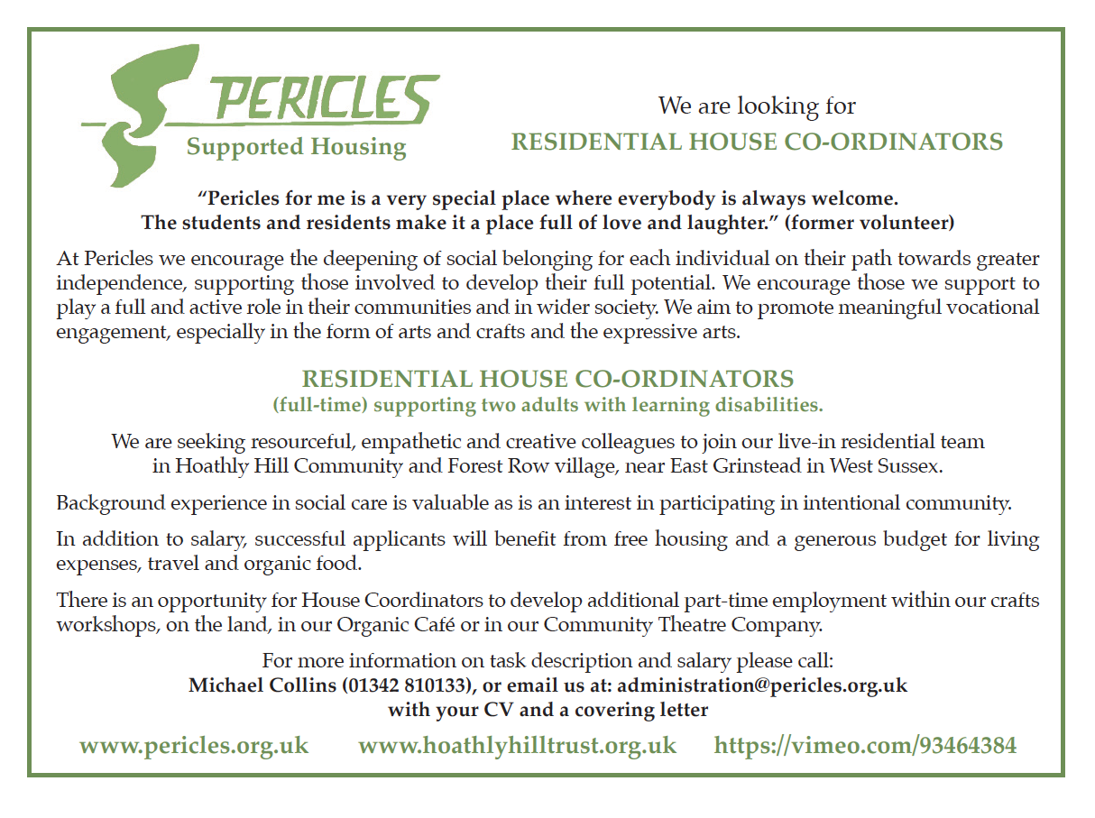 Residential House Coordinators