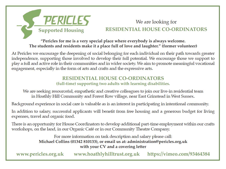 Residential House Coordinators